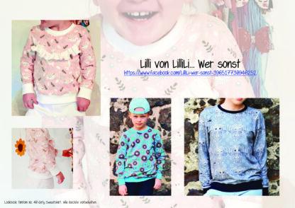 Designbeispiele zum Girly Sweatshirt timtom No.40, genäht von Lilli von LilliLi... wer sonst