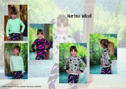 Designbeispiele zum Girly Sweatshirt timtom No.40, genäht von Martina Wilkell