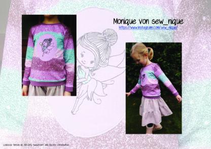 Designbeispiele zum Girly Sweatshirt timtom No.40, genäht von Monique von sew_nique