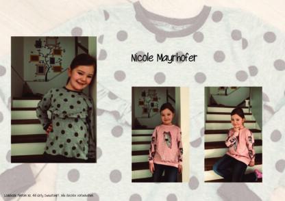 Designbeispiele zum Girly Sweatshirt timtom No.40, genäht von Nicole Mayrhofer
