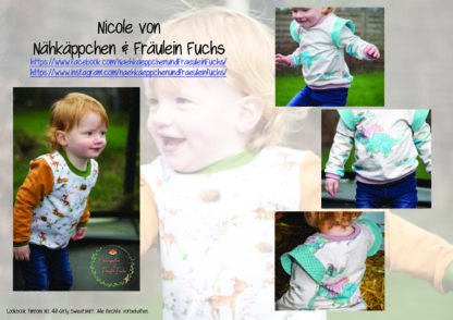 Designbeispiele zum Girly Sweatshirt timtom No.40, genäht von Nicole von Nähkäppchen & Fräulein Fuchs