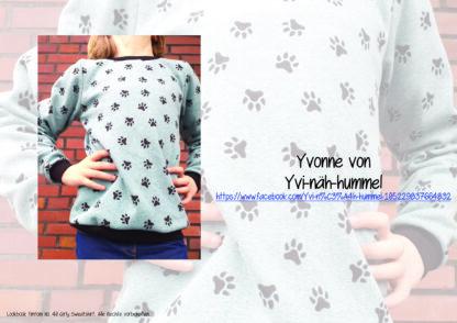 Designbeispiele zum Girly Sweatshirt timtom No.40, genäht von Yvonne von Yvi-näh-hummel