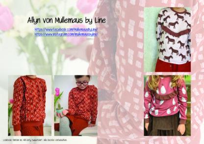 Designbeispiele zum Girly Sweatshirt timtom No.40, genäht von Allyn von Mullemaus by Line