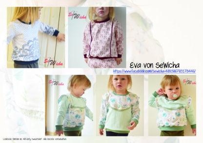 Designbeispiele zum Girly Sweatshirt timtom No.40, genäht von Eva von SeWicha