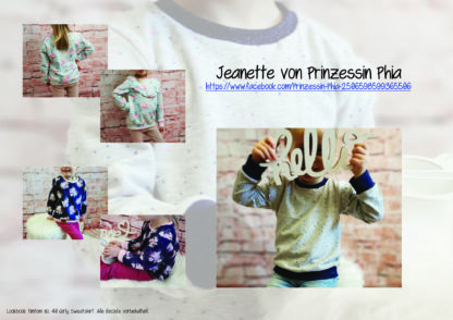 Designbeispiele zum Girly Sweatshirt timtom No.40, genäht von Jeanette von Prinzessin Phia