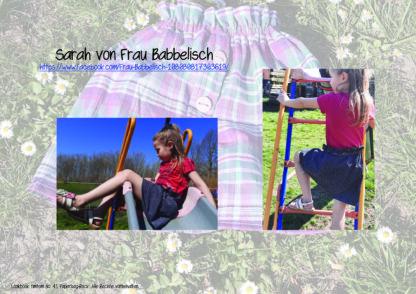 Designbeispiel zum Paperbag-Rock timtom No.41, genäht von Sarah von Frau Babbelisch